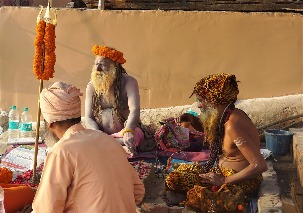 Holy Men by the Ganges